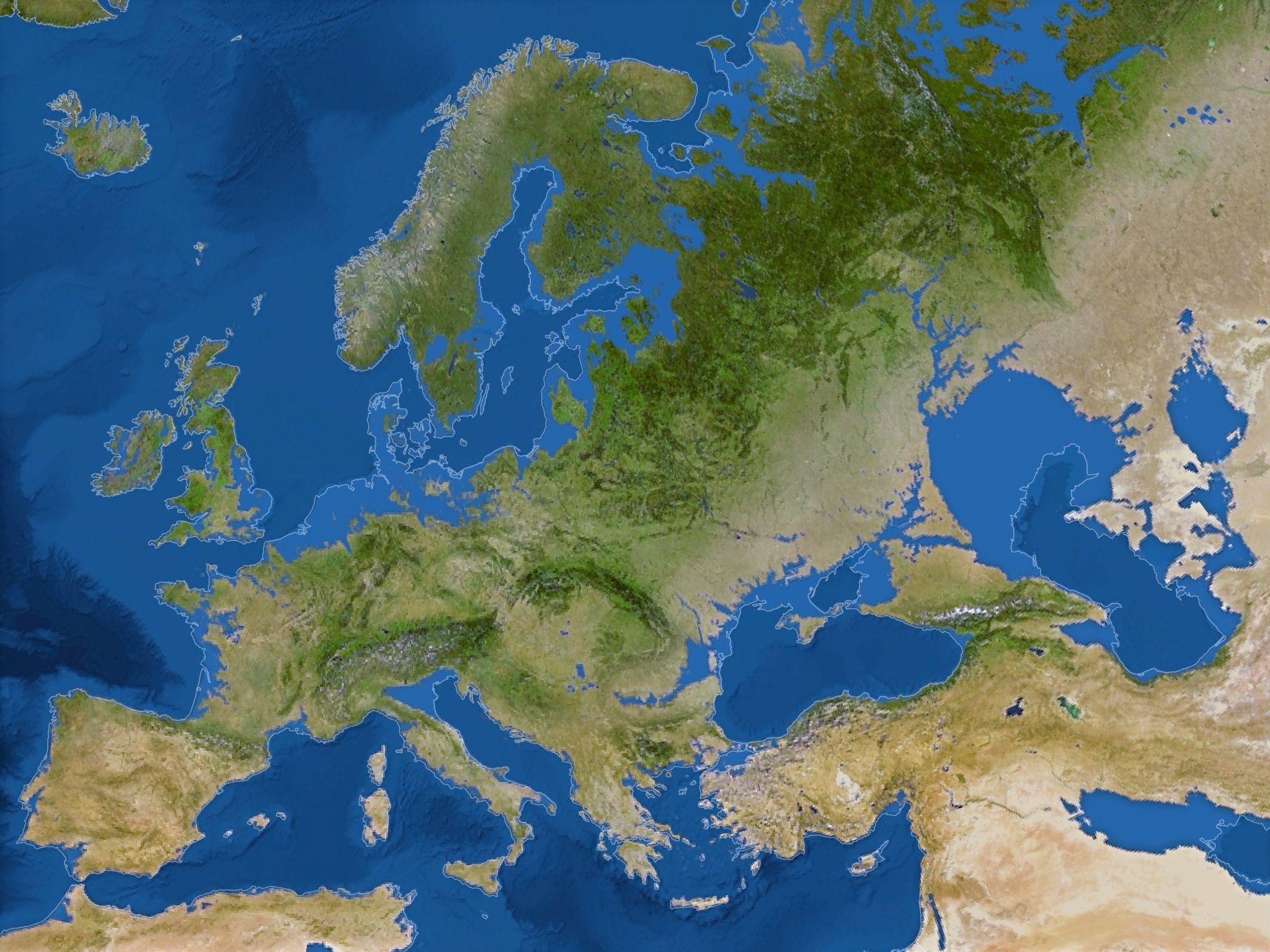 Map of Europe if all the ice melted (sea level +66 m) | mapmania