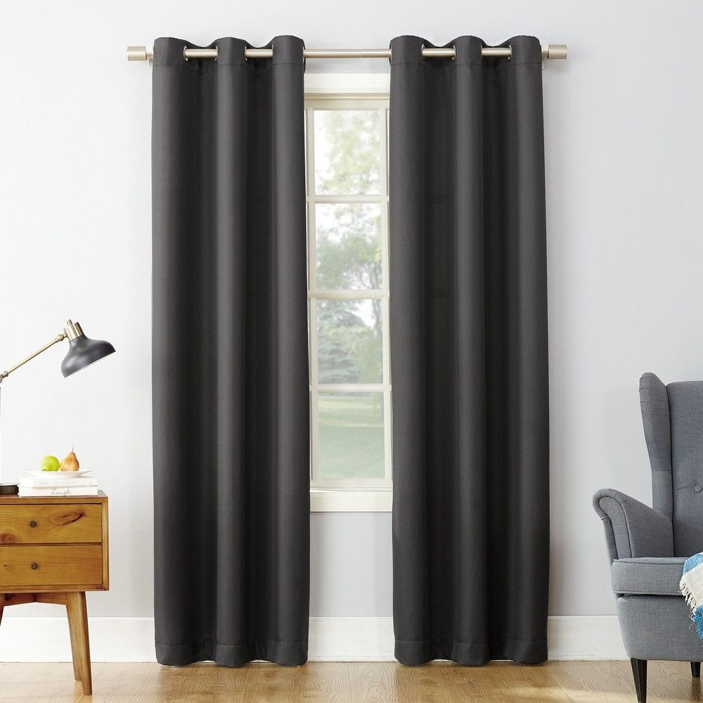 Montego Casual Textured Grommet Curtain Panel Navy 48 X84 No 918 Curtains Panel Curtains Grommet Curtains