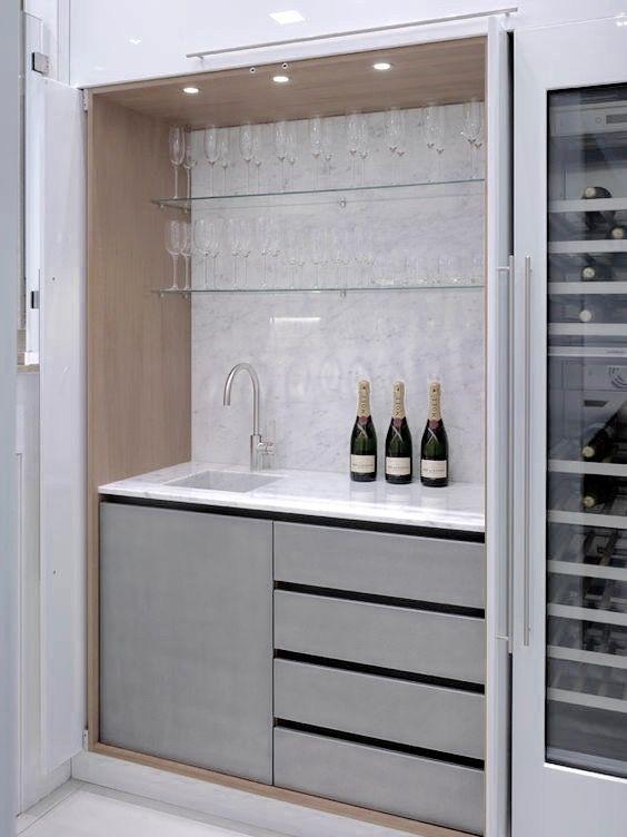Pin By Gordino K On Kitchen Pinterest Hidden Kitchen, Wine And ...