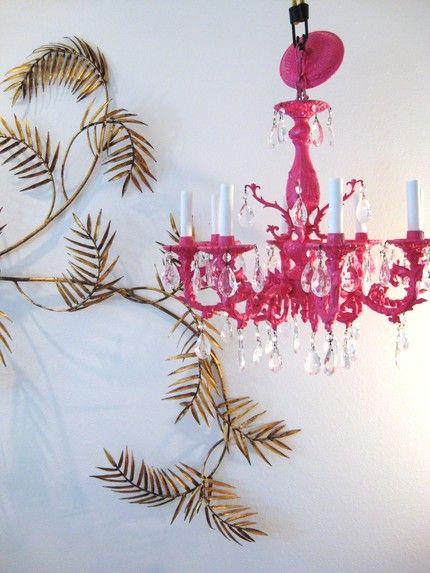 Hot Pink Chandelier | Lighting by deeAuvil | Pinterest ...