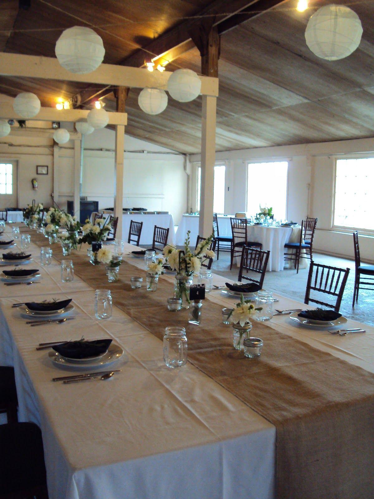 Smokey Glen Farm Wedding Burlap Table Runner Rustic Head Tables Barbecue Wedding Rustic Vintage Wedding