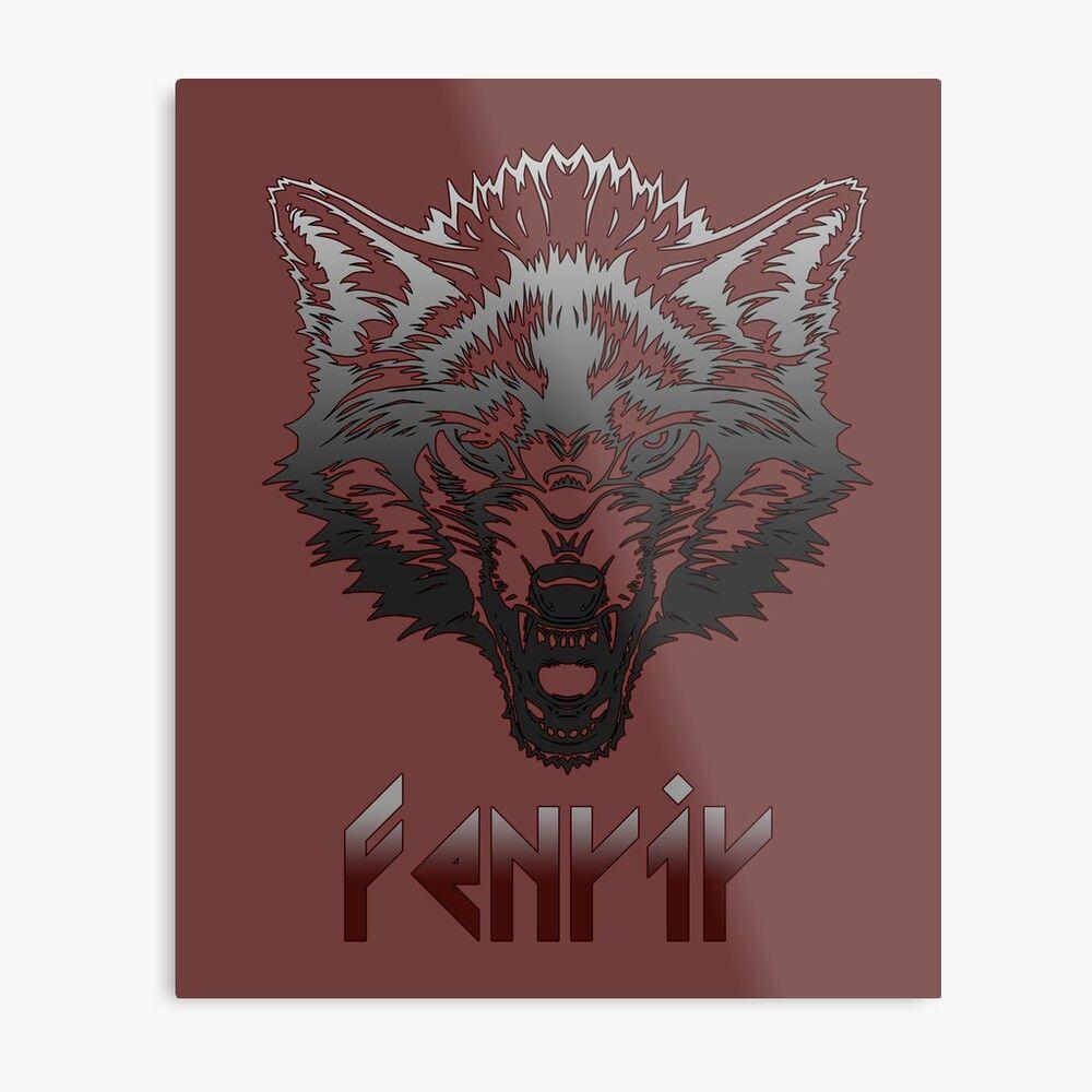 'Fenrir Viking Wolf Norse mythology t-shirt ' Metal Print ...