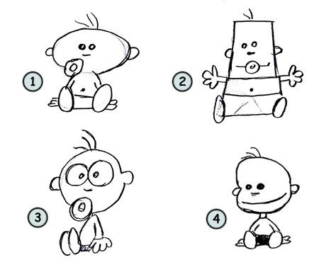 drawing cartoon babies art projects for kids pinterest