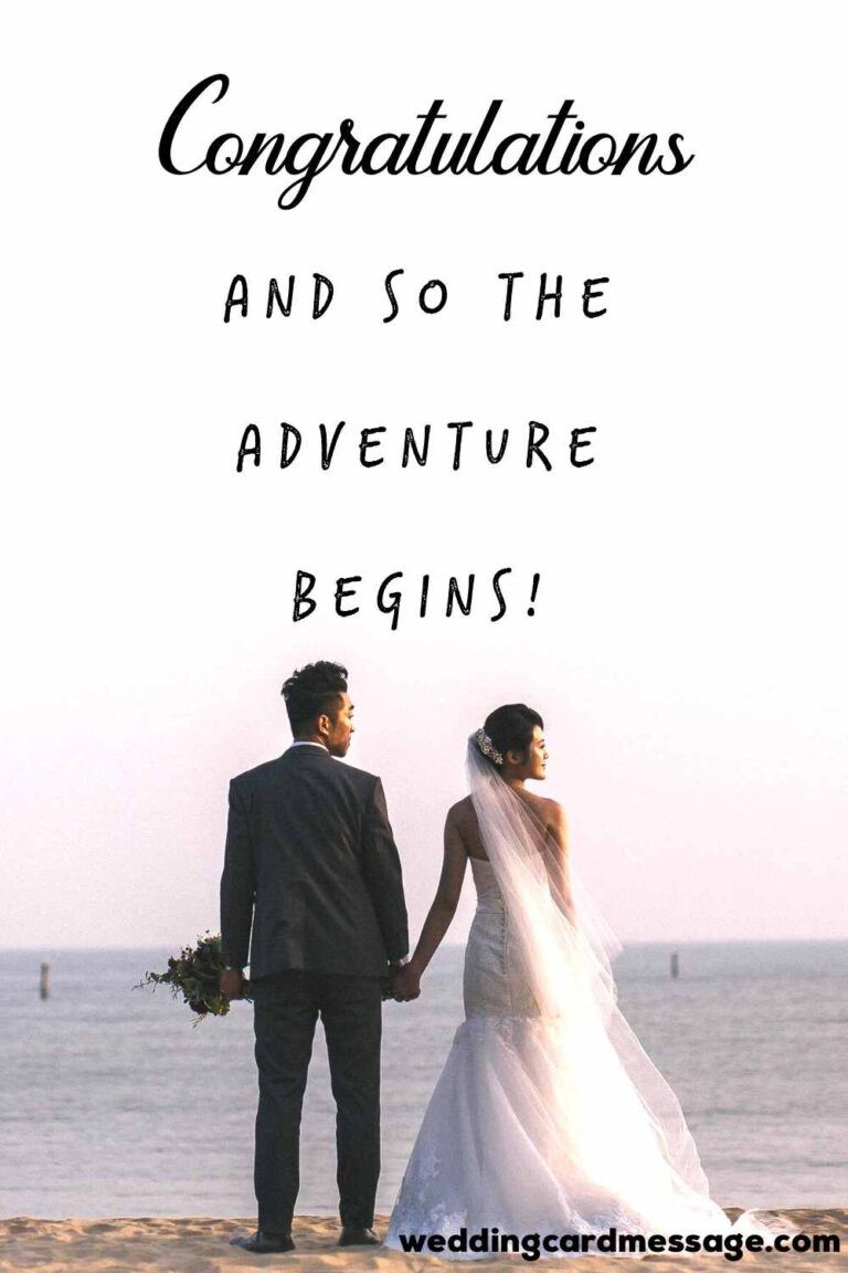 Wish your son or daughter a happy wedding with these example wedding messages from parents that are perfect for cards or to say in person | #wedding #wishes #weddingwishes #parents