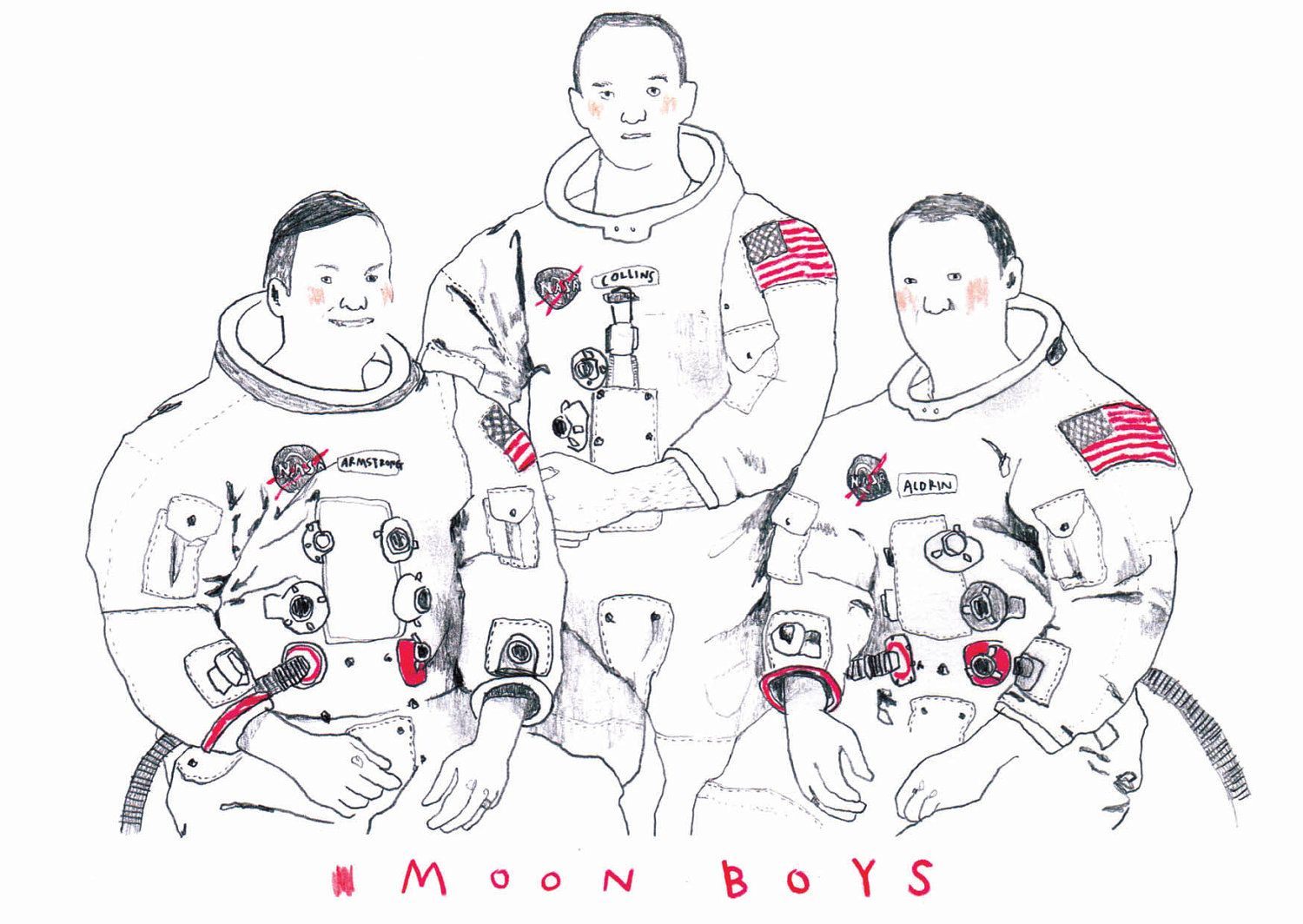 MOON BOYS // print A5. £12.00, via Etsy.