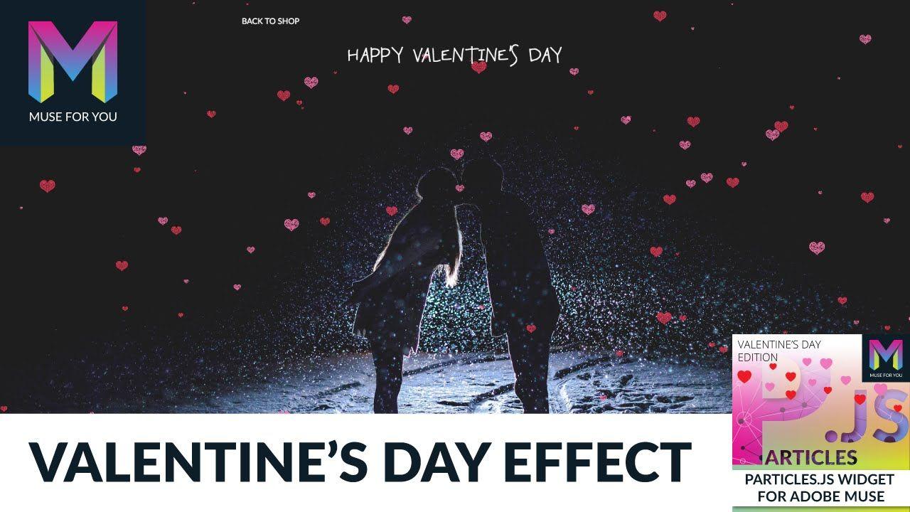 Valentine's Day Effect | Particles js Widget | Adobe Muse CC