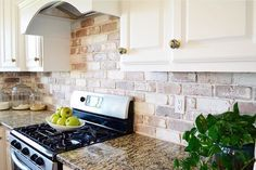 A do it yourself tutorial on how to install a brick veneer backsplash