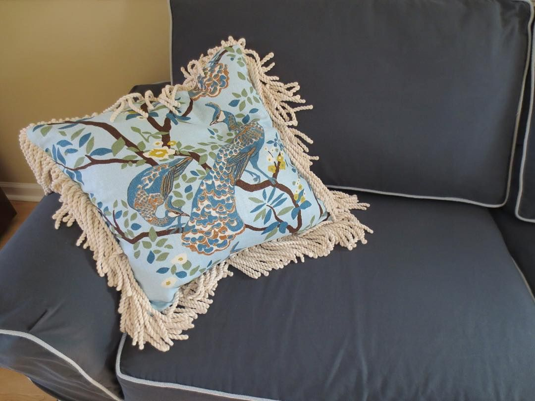 #peacock and #fringe #pillowfolly #pillows #romantic #shabby #homedecor #shabbychic #boho Want one?