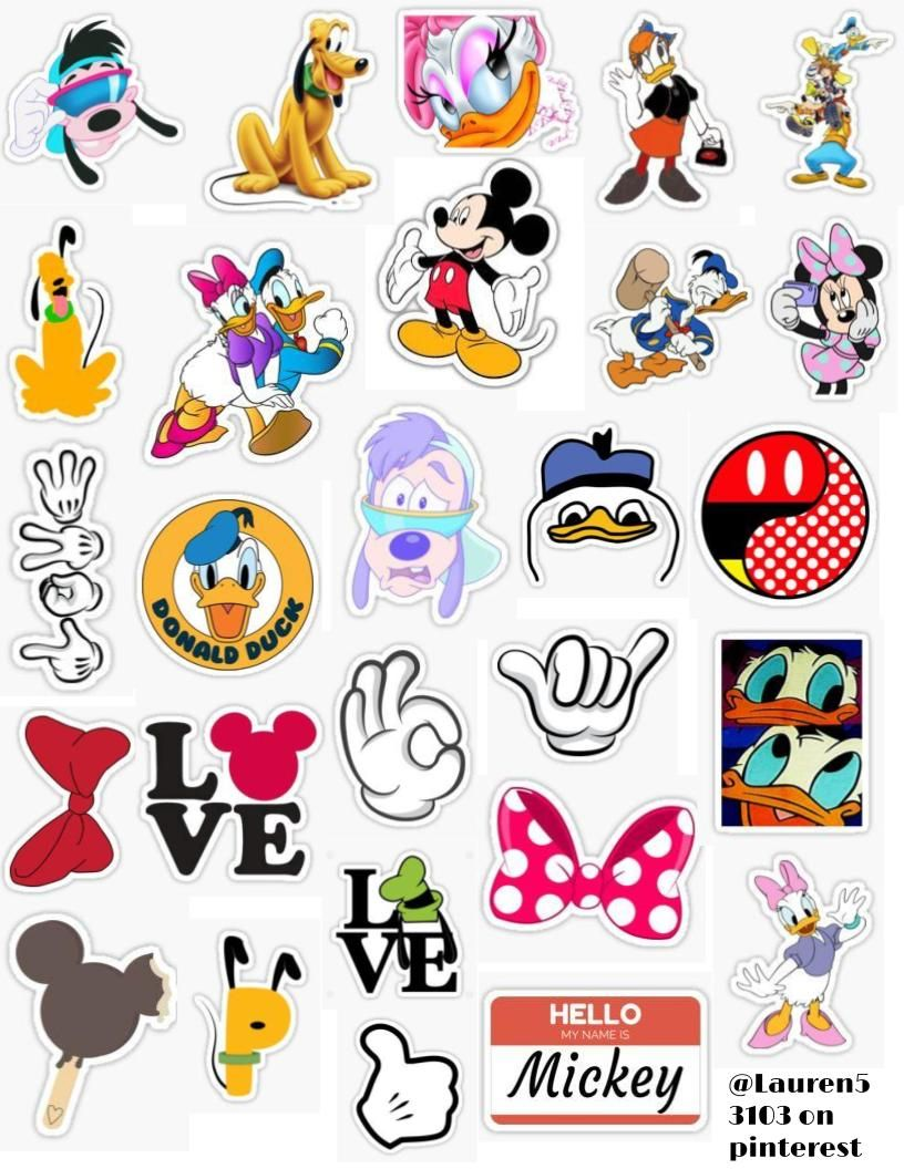 Sticker small Minnie Mouse
