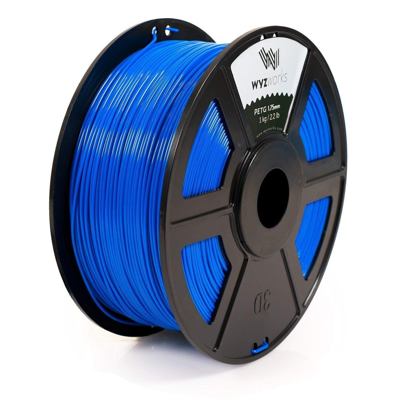 3d Printer Consumables 183065 Wyzworks 3d Printer Premium Petg Filament 1 75mm 1kg 2 2lb Blue Buy It Now Only 22 3d Printer Filament 3d Printer Printer