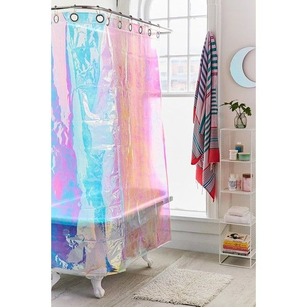 Iridescent Shower Curtain 89 Liked On Polyvore Featuring