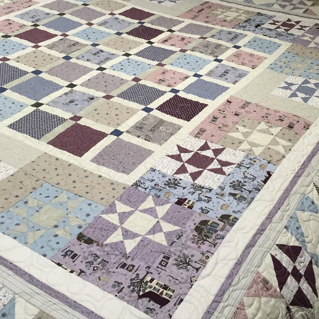 Loving this Towne Square quilt, designed by Wendy Sheppard made from ...