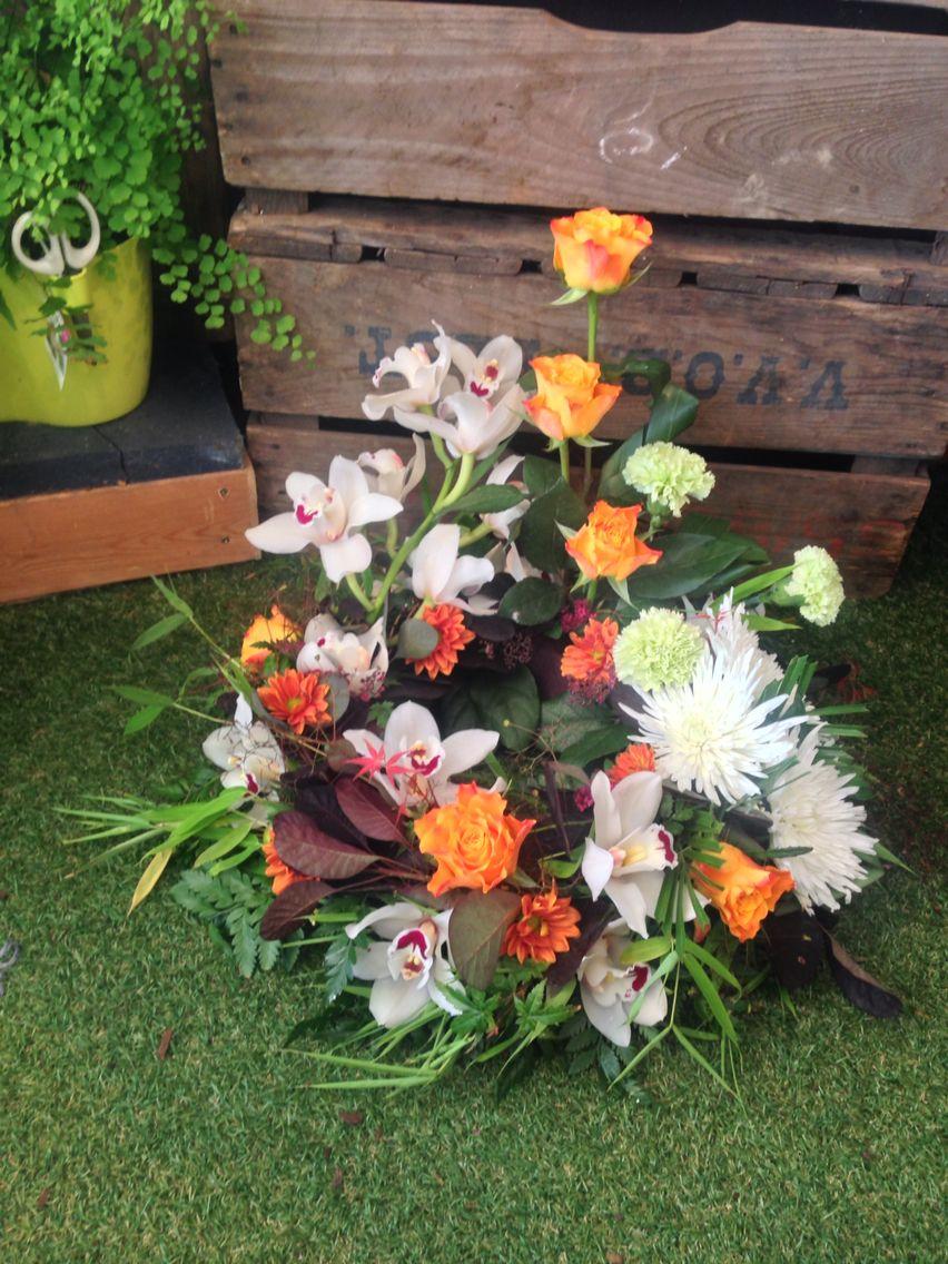 Oriental inspired contemporary funeral wreath the vintage flower oriental inspired contemporary funeral wreath izmirmasajfo