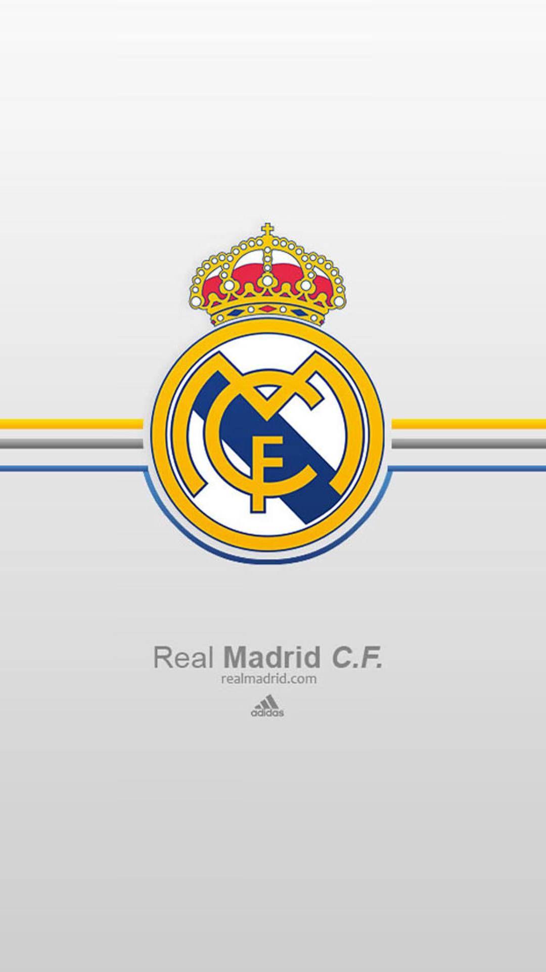Real Madrid Cf Phone Tablet Wallpaper White Background Design In 2020 Real Madrid Wallpapers Madrid Wallpaper Real Madrid Logo Wallpapers