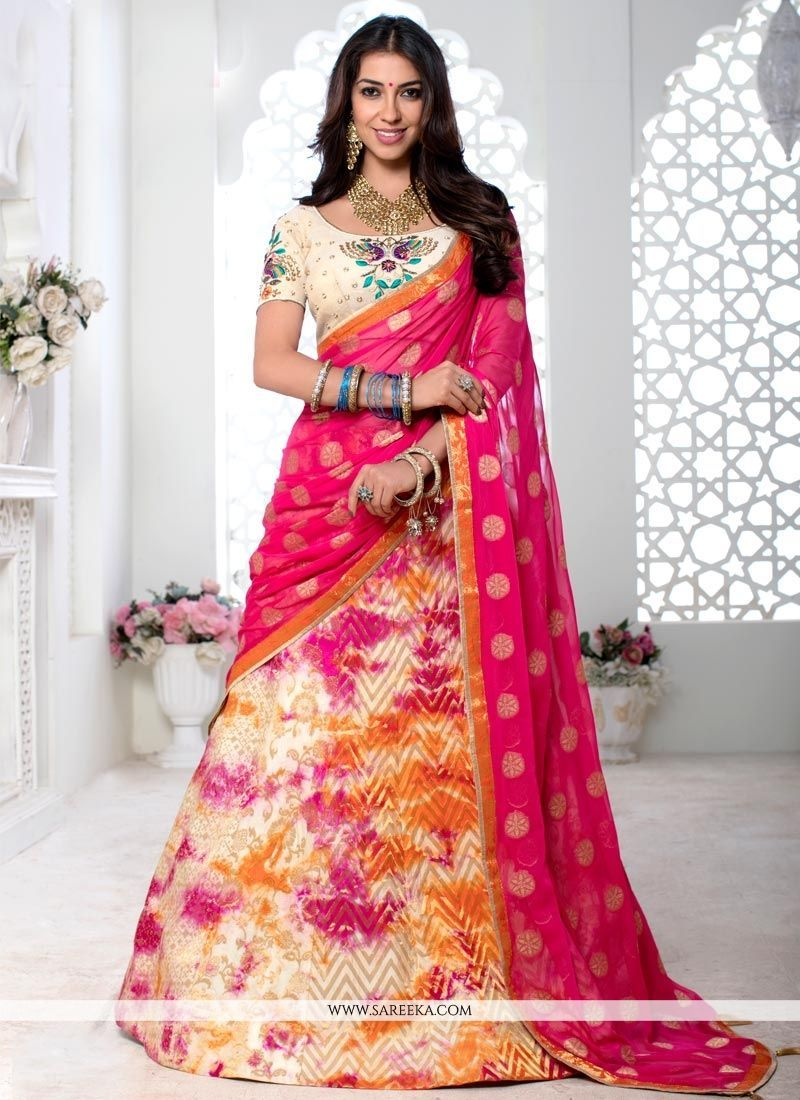 49eb287dc6 Buy online lehenga choli with varieties of designs and collection. Order  this fantastic embroidered and resham work lehenga choli for reception and  wedding ...