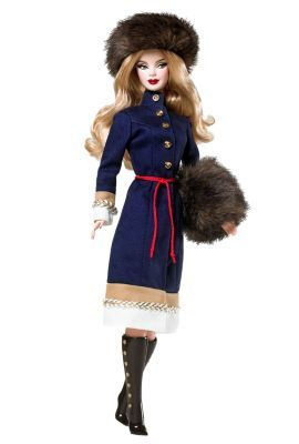 Pink Label FAO Schwarz Barbie Doll With Arm Cuffs Soldier Hat /&  Black Boots
