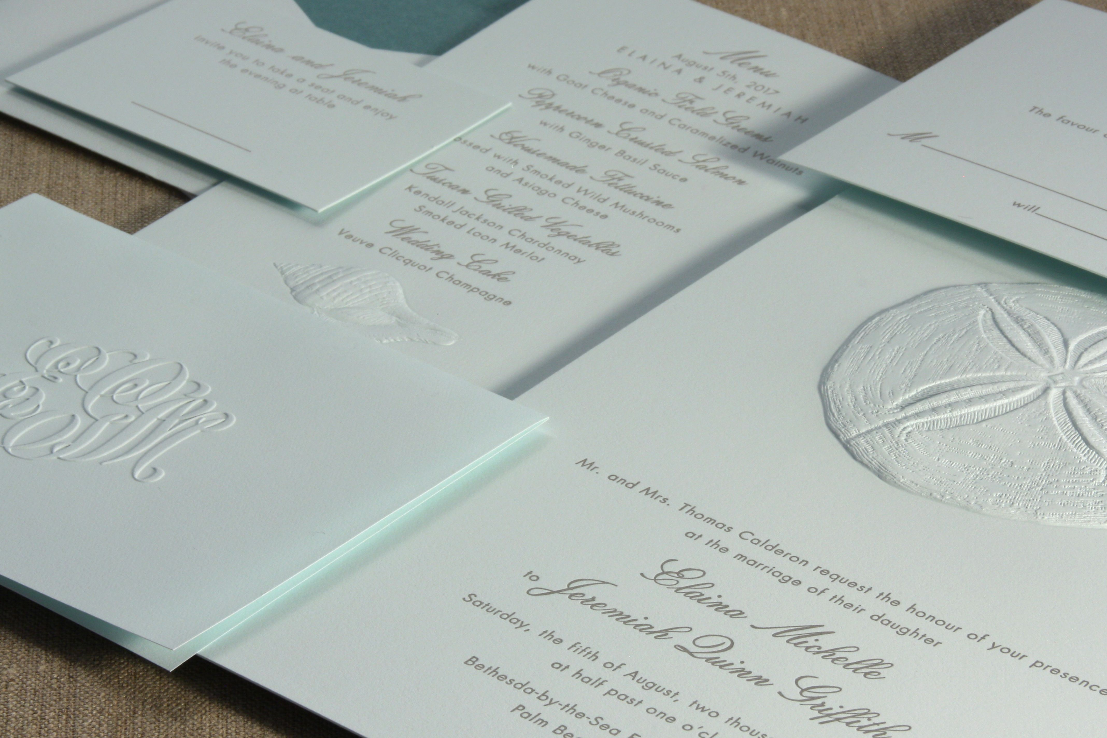 Wedding invitations crane stationery