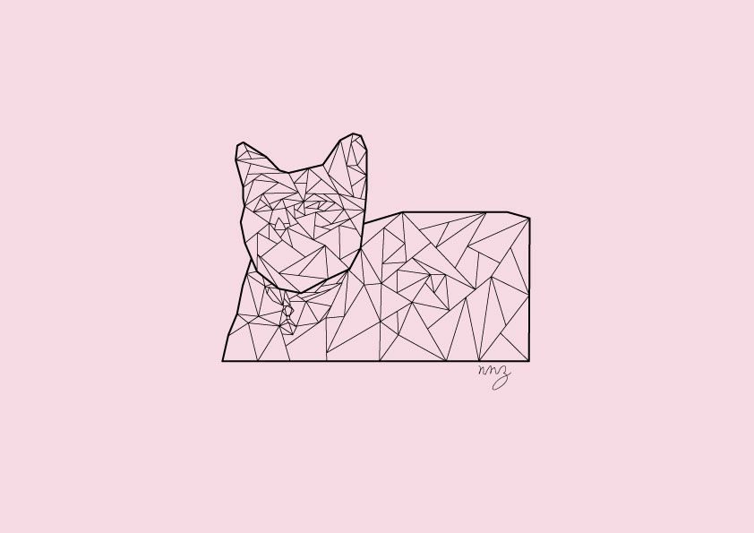 #cat #polygon #art #illustration #graphic #geomatic