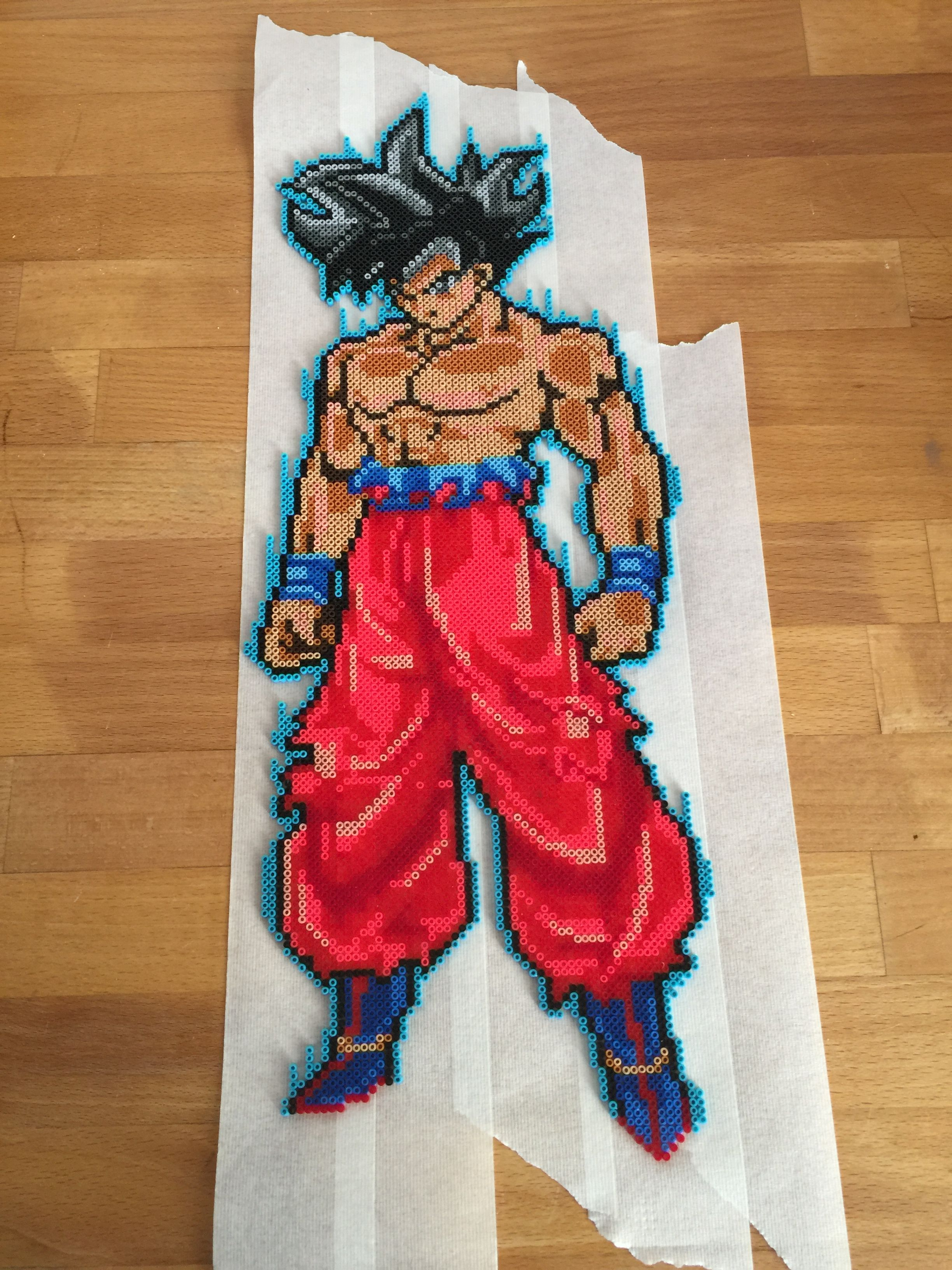 Goku Kaioken Ssjblue Perlerbeads Etsy