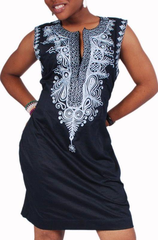 Embroidered dress african designs pinterest