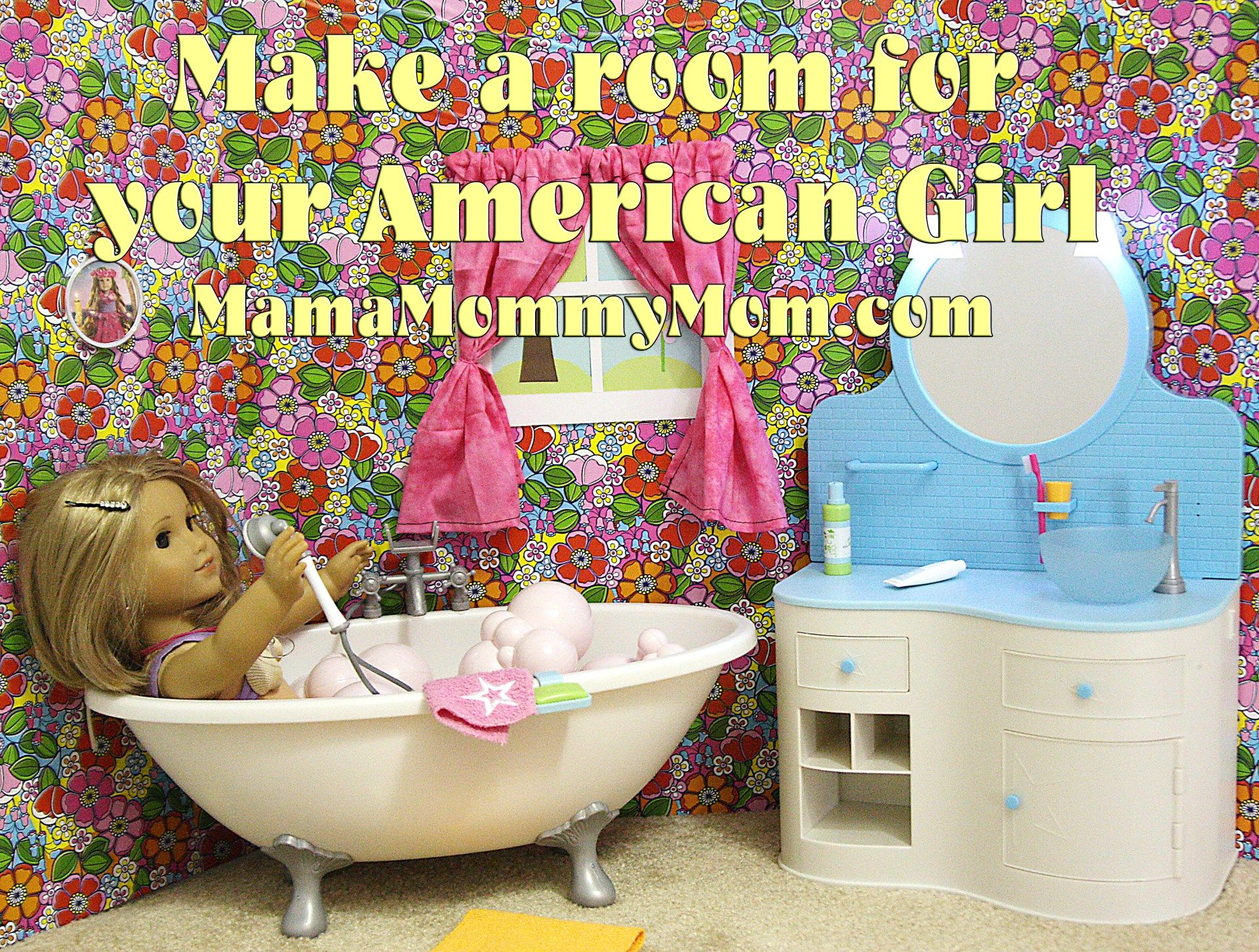 American Girl on the Cheap: Making a Room for Your Doll - #americangirlhouse