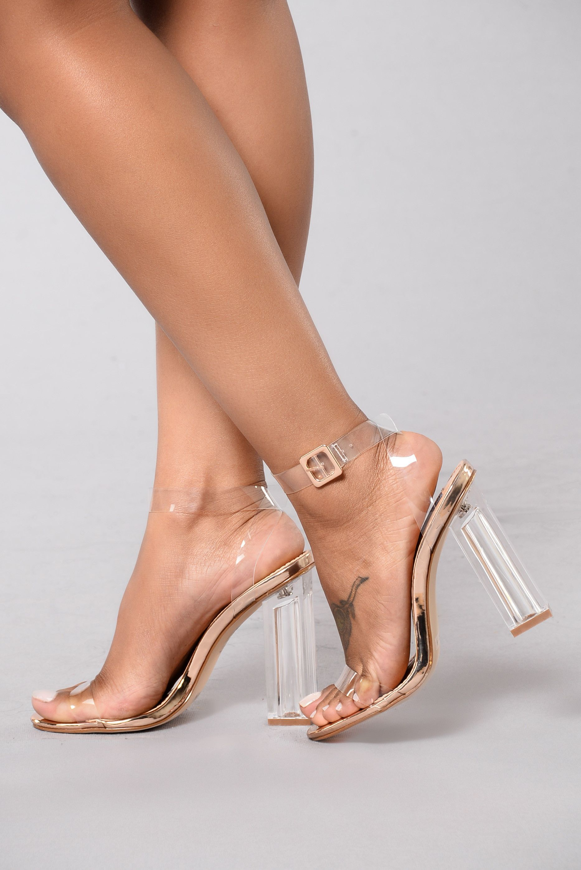 abcc3aeab8a The Glass Slipper - Rose Gold. The Glass Slipper - Rose Gold Clear Heels ...