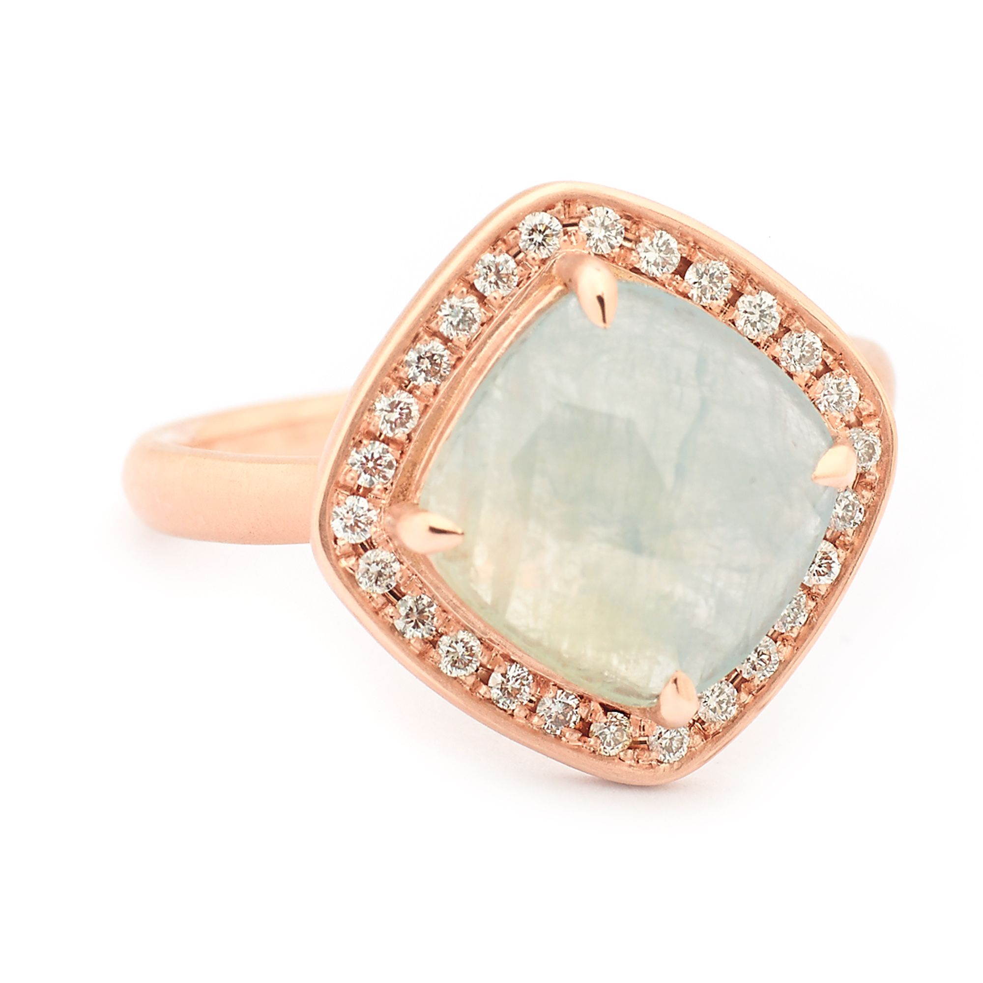 ring unheat and pale blue engagement sapphire pink rings light diamond
