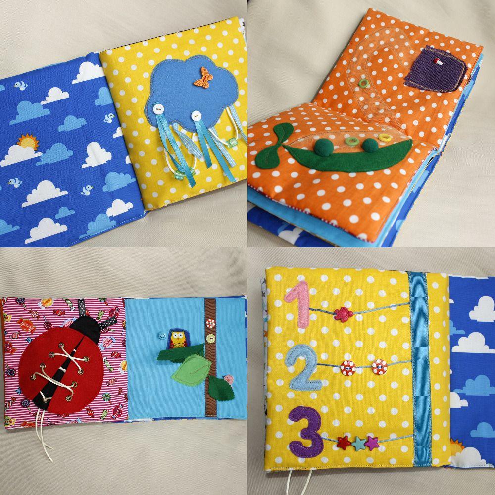 Grand Livre D Eveil Livre En Tissu Pour Enfant Montessori