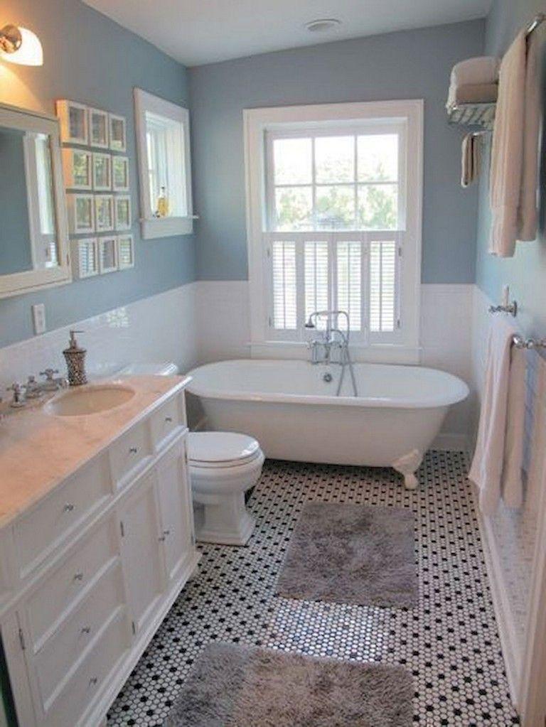 80 Wonderful Small Farmhouse Bathroom Remodel Design Ideas Small Farmhouse Bathroom Small Country Bathrooms Cottage Bathroom