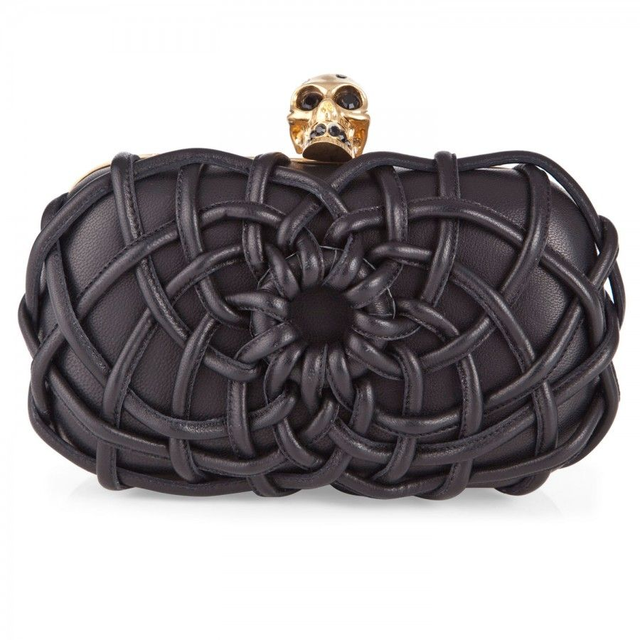 88e057548 Woven leather skull box clutch, Clutches, Harvey Nichols Store View Stylish  Handbags, Big
