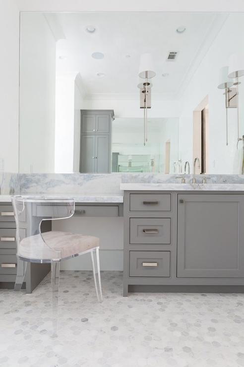 Like The Flooring Bathroom Inspiration Modern Design Marble Vanity Bathroom With Makeup Vanity Master Bathroom Vanity Chic Bathrooms