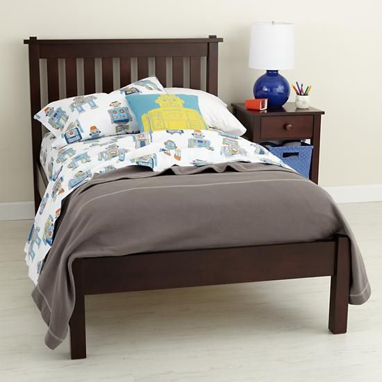 The Land Of Nod Kids Beds Kids Espresso Simple Bed In Beds
