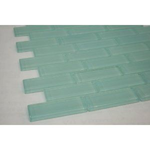 Soft Mint 1 X3 Aqua Blue Glass Tile Price Per Piece 1 Piece 875 Square Feet Blue Glass Tile Glass Tile Blue Glass