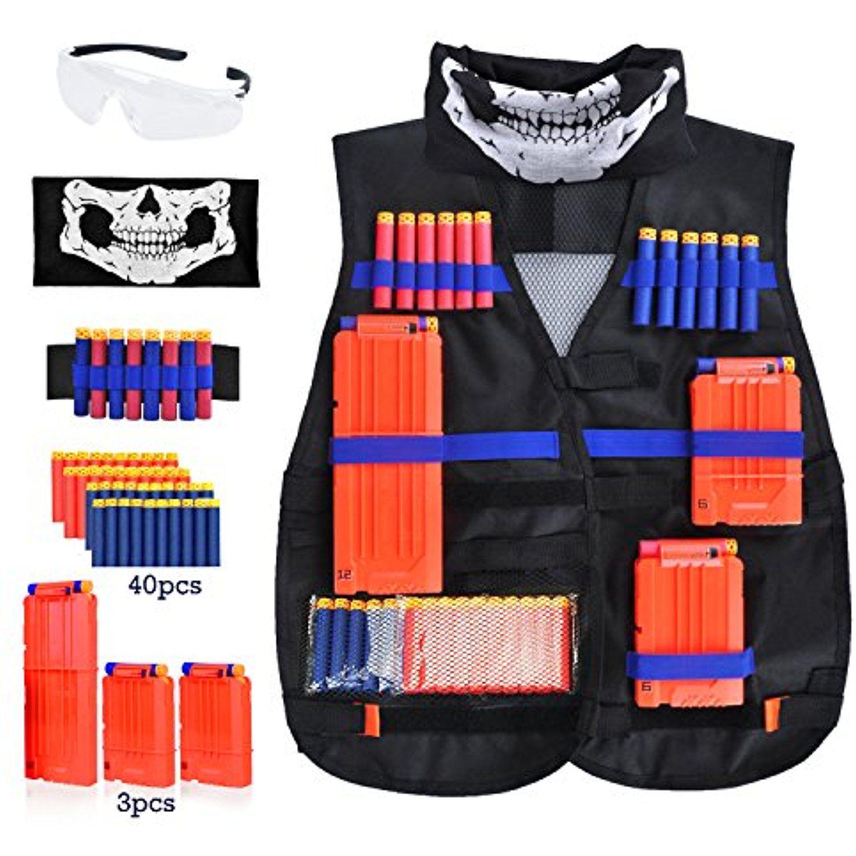 Kids Tactical Vest Kit Meland Tactical Vest Kit for Nerf Guns N Strike Elite