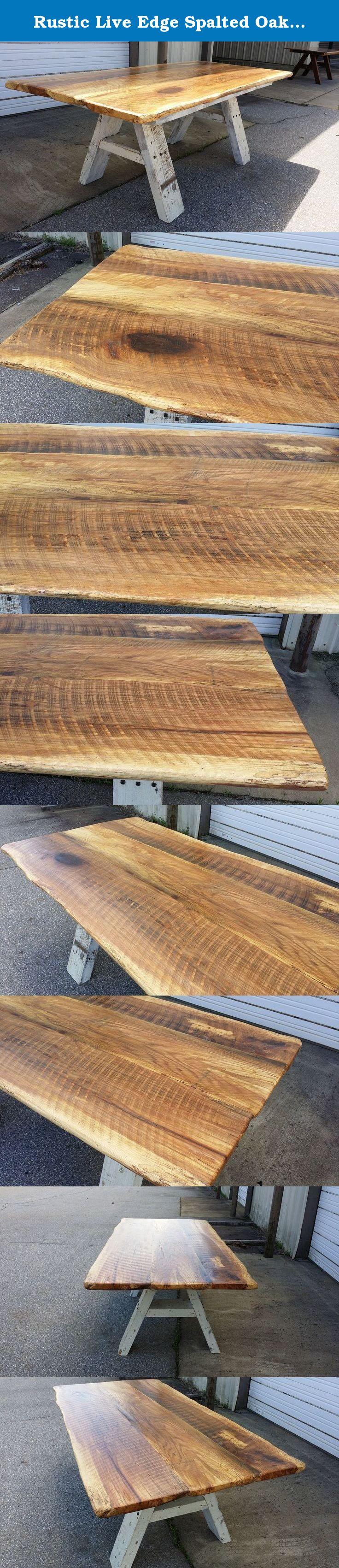 Elegant firepit with unpolished panel of oak wood using ornamental - Oak Dining Table