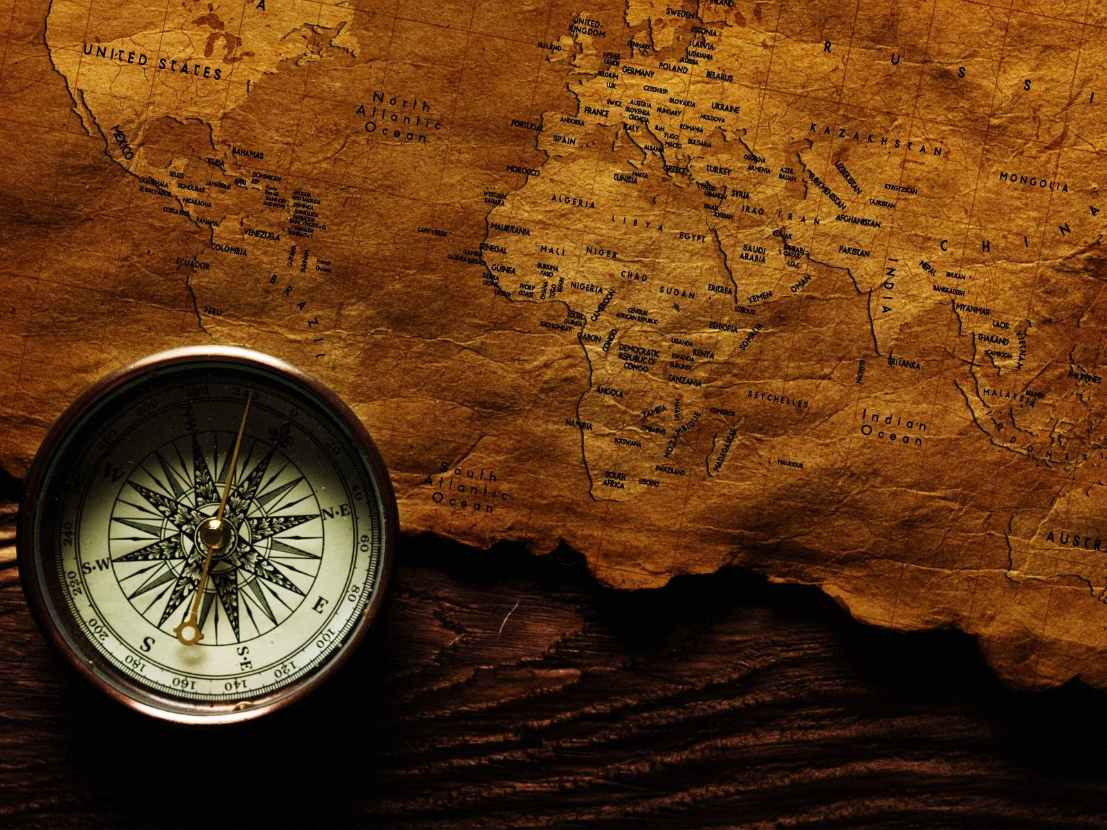 Compass Old Map Free Desktop HD Wallpaper Wallpaper | blog | World