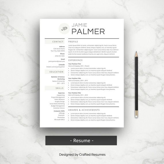 Resume Template fro Microsoft Word from Crafted Resumes Resume - template for resume microsoft word