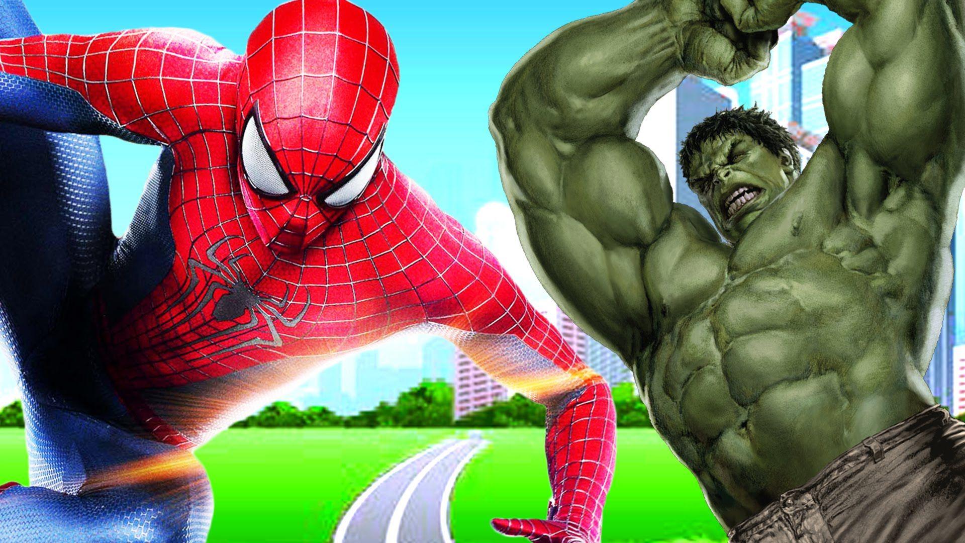 spiderman amp hulk amazing fights spiderman vs hulk