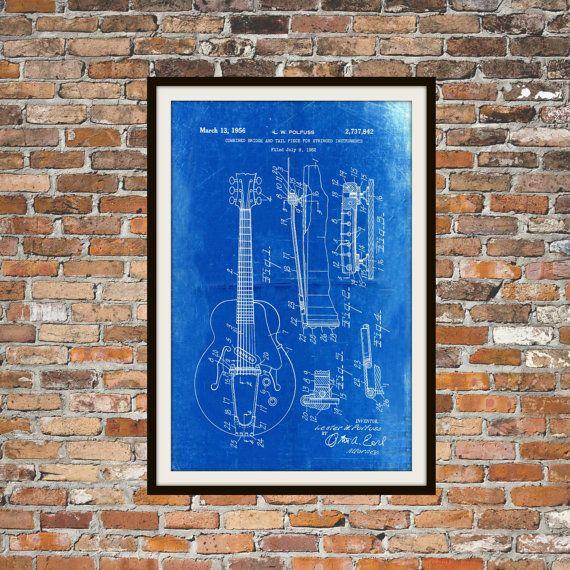 Blueprint art of guitar bridge tail piece for stringed instrument blueprint art of guitar bridge tail piece for stringed instrument technical drawings engineering drawings malvernweather Choice Image