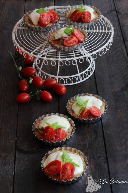 LA CUINERA: ¡Tartaletas mediterráneas! (tomate cherry, champiñón, menta ymozzarella)