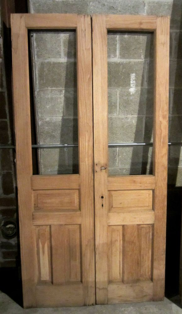 Nice Set Of Antique Chestnut Double French Doors Architectural