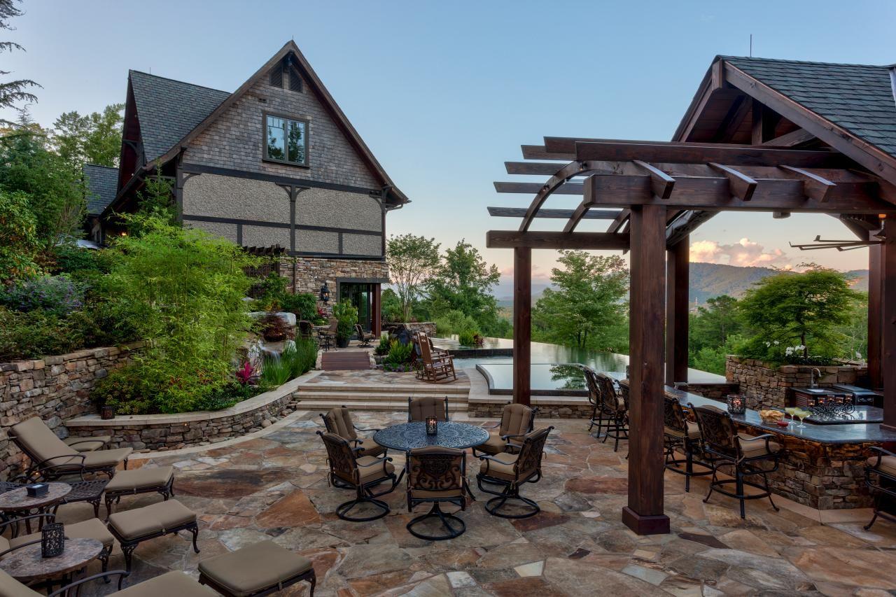 Rustic Mountain Retreat | Fresh Faces of Design | HGTV ... on Mountain Backyard Ideas id=74225