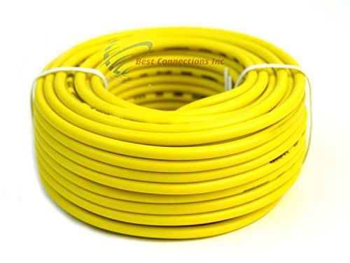 12 GA Gauge 50 Feet Yellow Audiopipe Car Audio Home Remote Primary ...