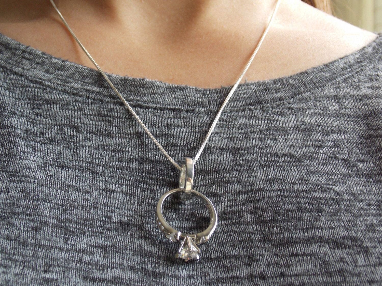 Ring Holder Necklace, Wedding Ring Holder, Necklace Ring