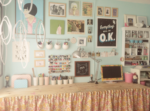 Pretty Sure That S The Desk I Have I Like The Idea Of The Skirt Around It Creative Space Room Tour Room