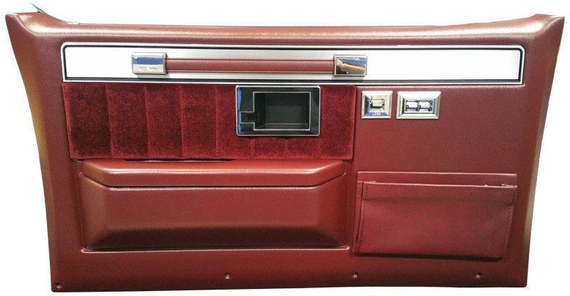 1981 91 Chevy Silverado Truck Door Panels Complete Burgundy Pair Camiones Chevy Tapiceria Automotriz Chevy