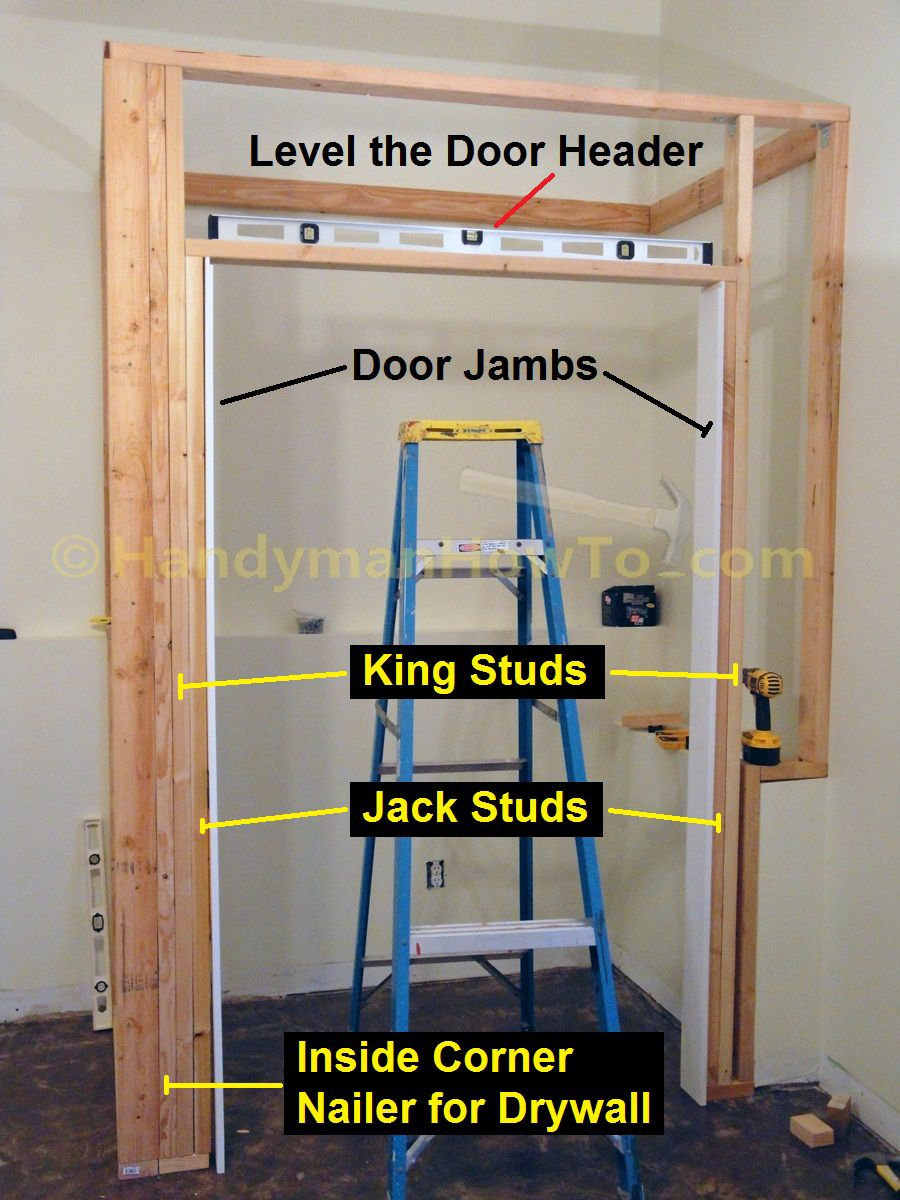 Basement Closet Door Rough Opening 2x4 Framing Diy