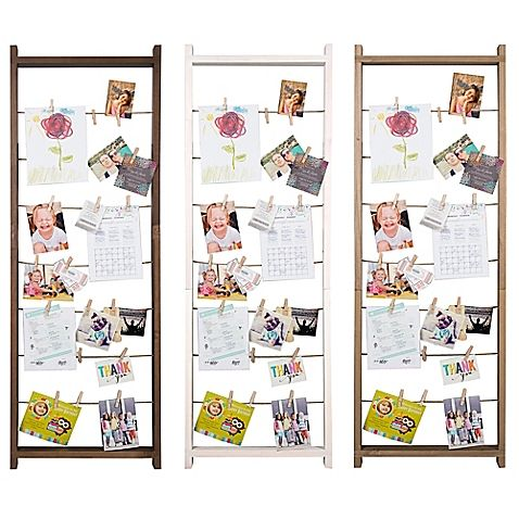 Burnes of Boston 5-Foot Ladder Collage Frame with Clips in Natural ...