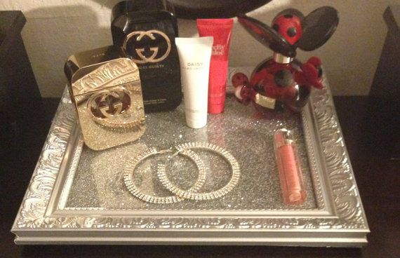 Vanity Tray Perfume Tray by DipNDazzle on Etsy