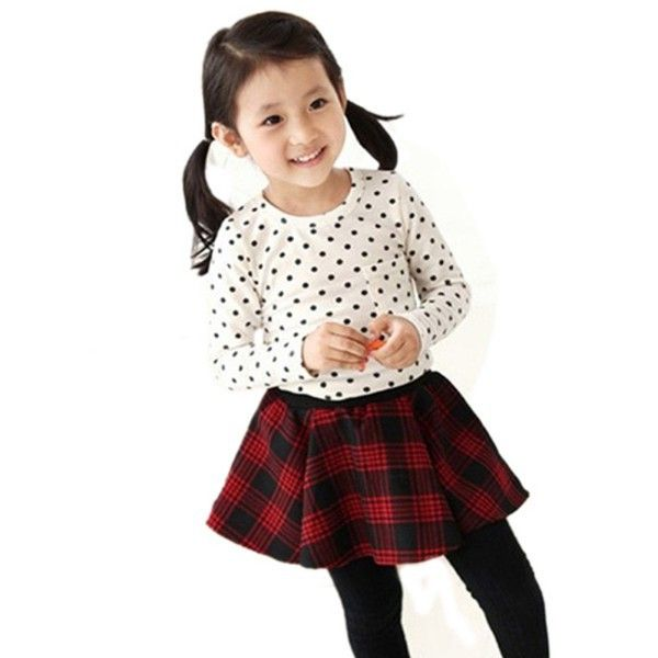 Children Kids Girl Polka Dot CrewneckTops Long Sleeve Cotton Shirt https://t.co/qLBT2Ob4cw https://t.co/mjpiCUNm5B